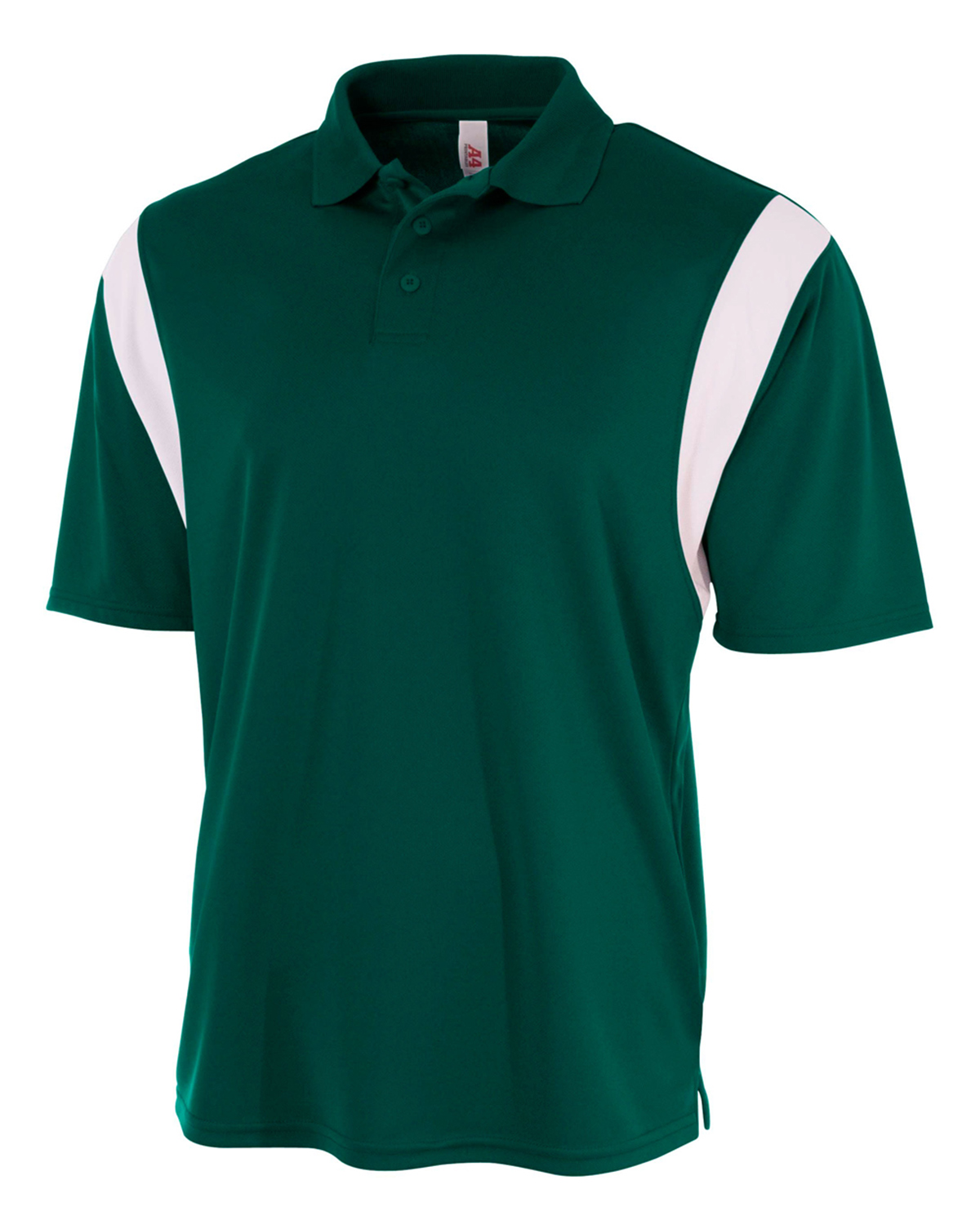 A4 Drop Ship N3266 - Men's Color Blocked Polo Shirt w/ Knit Collar