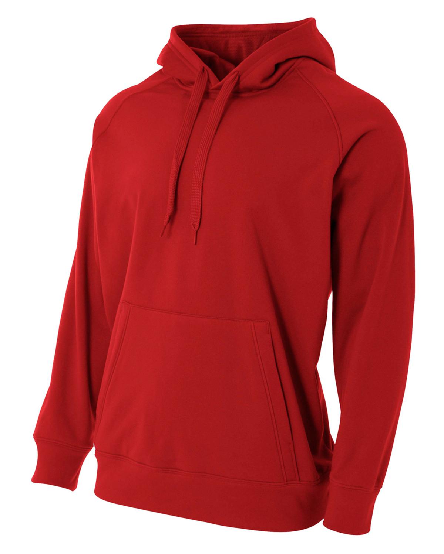 A4 不可退换 N4237 男士纯色保暖卫衣连帽衫