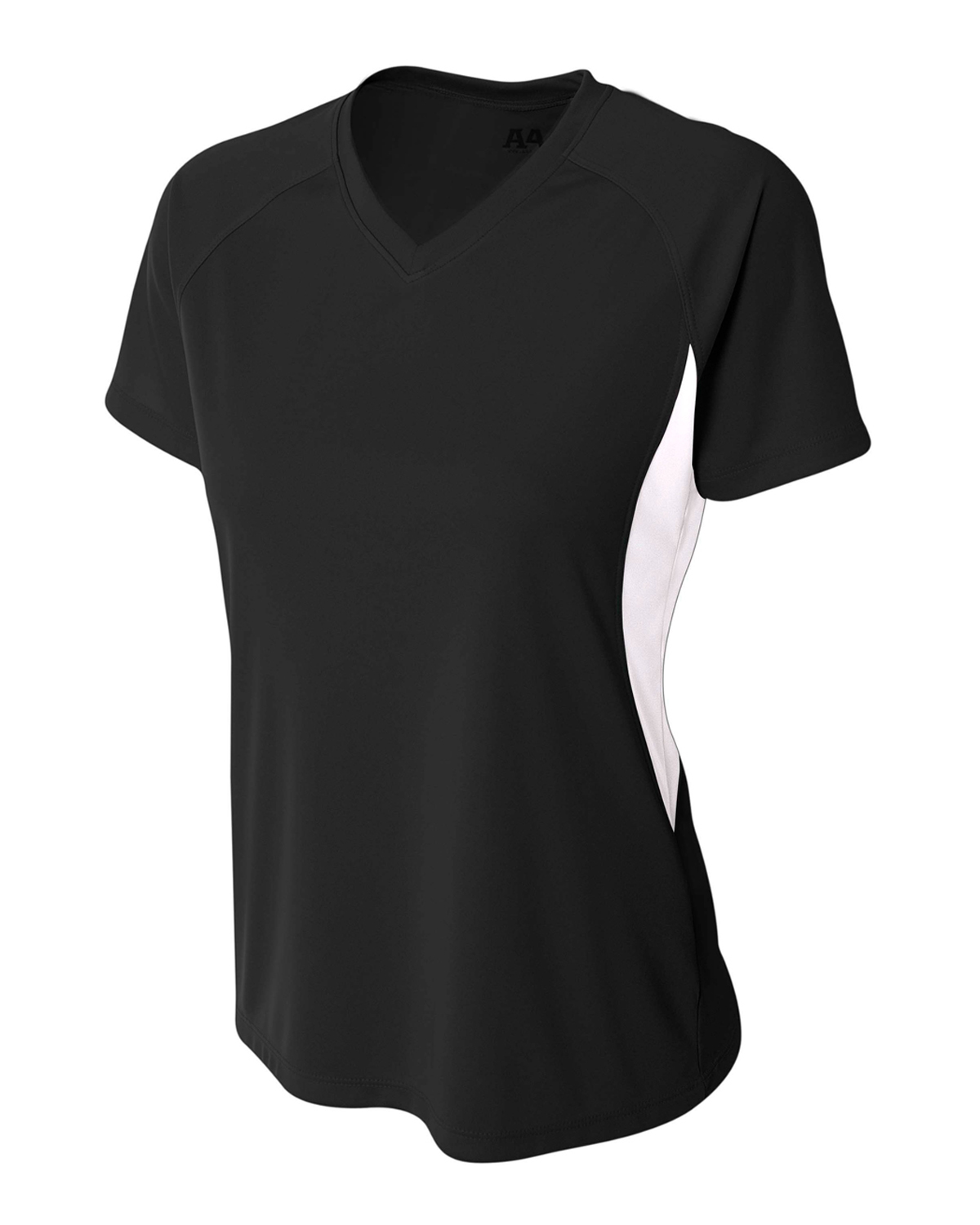 A4 Drop Ship NW3223 - Ladies' Color Block Performance V-Neck Shirt