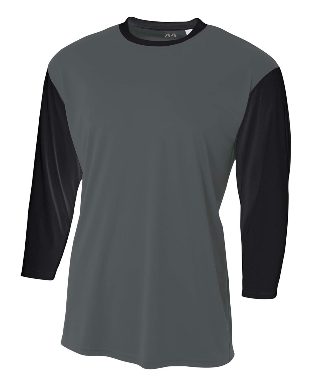 A4 Drop Ship Youth NB3294 - 3/4 Sleeve Utility Shirt