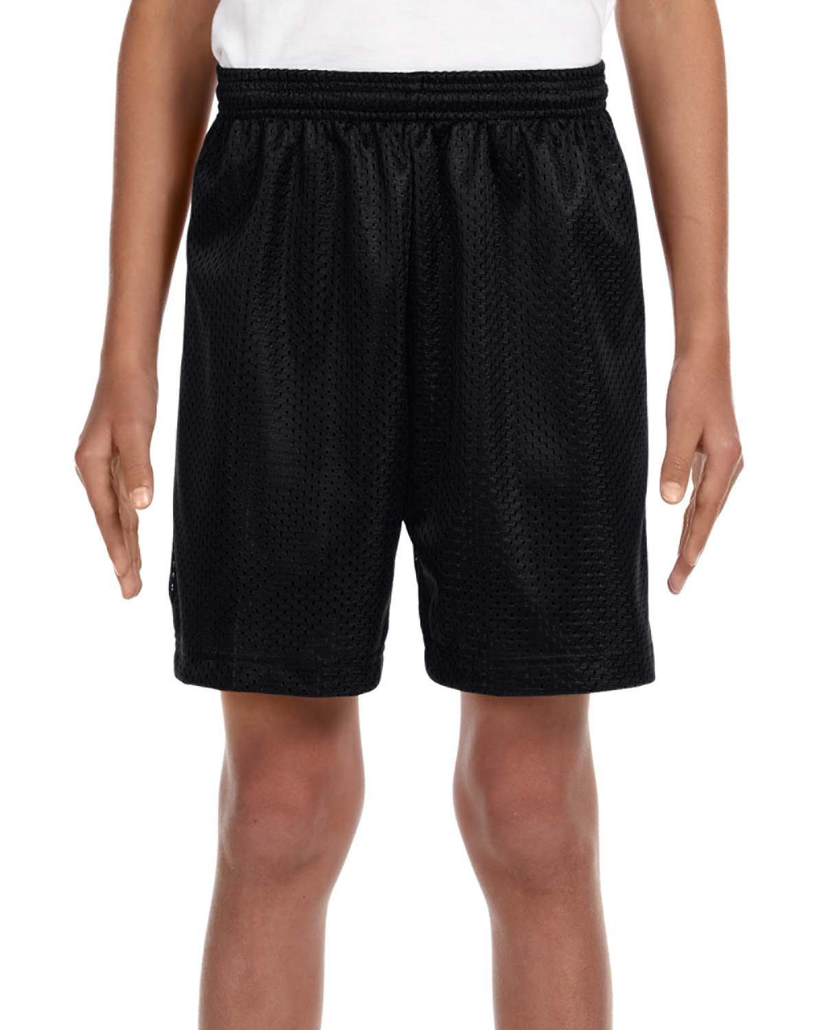 """A4 NB5301 - Youth Tricot Lined 6"""" Mesh Shorts"""