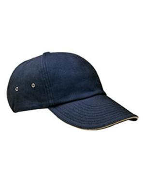 Adams Caps CT102 6片式浅帽型拉绒斜纹布三明治帽子