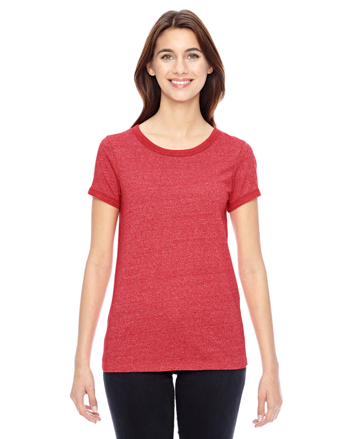 Alternative 01913E - Ladies' Eco-Mock Twist Ideal Ringer T-Shirt