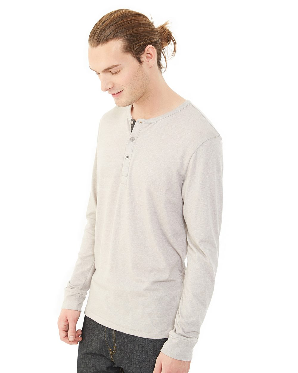 Alternative 01947E - Men's Eco-Mock Twist Long-Sleeve Henley