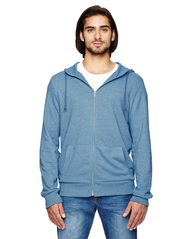Alternative 09880E 男士混纺拉链连帽衫轻薄外套罩衫