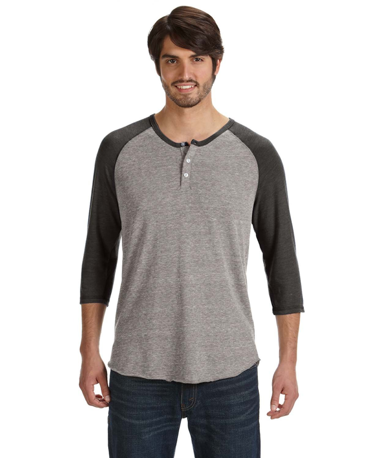 Alternative AA1989 - Men's Eco-Jersey 3/4-Sleeve Raglan Henley