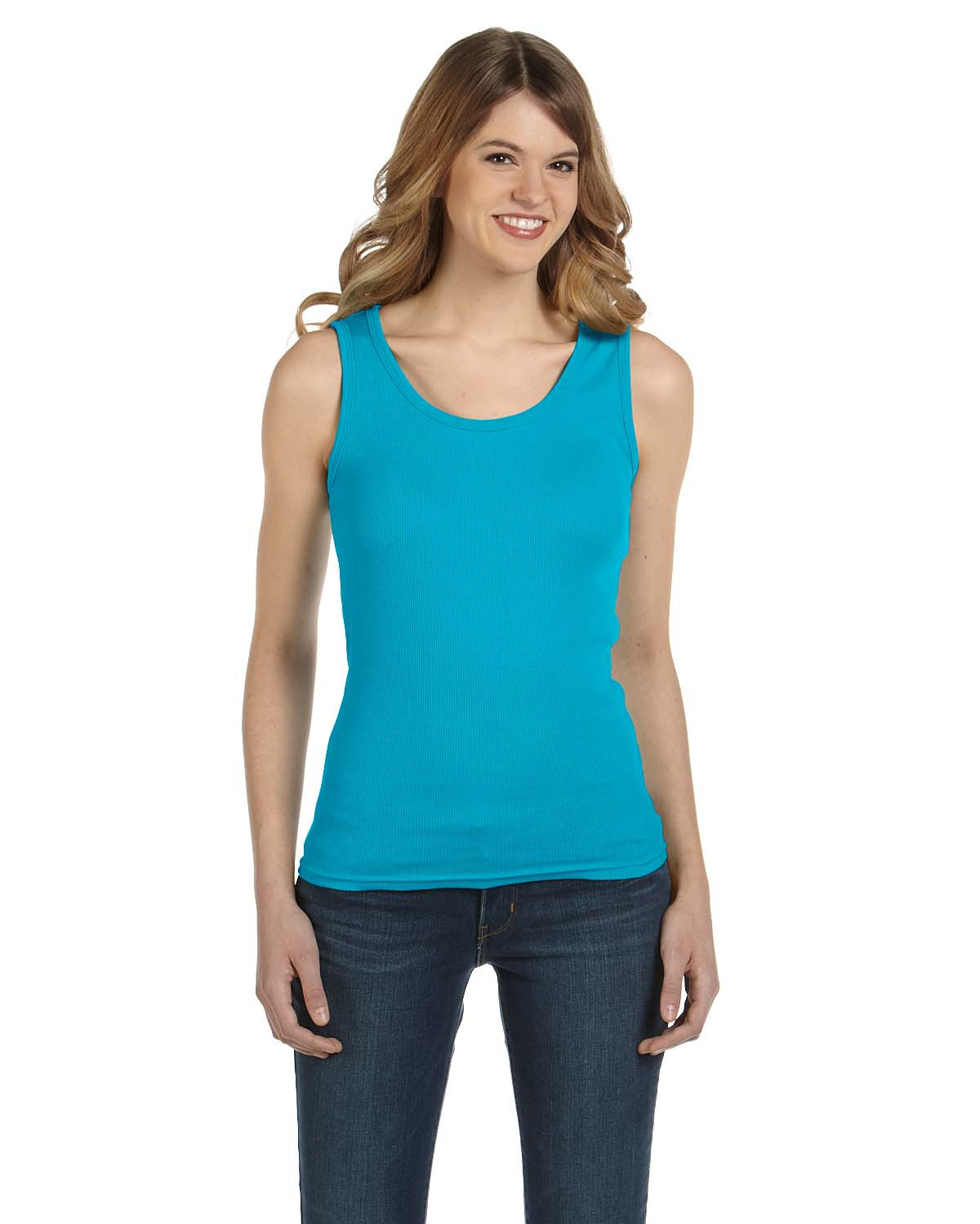 Anvil 2415  Women's Ringspun 2x1 Rib Tank