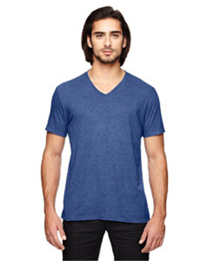 Anvil 6752 男士混纺V领短袖休闲T恤