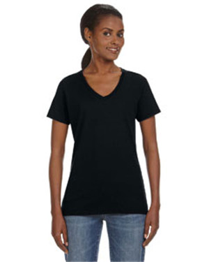 Anvil Missy Fit Ringspun V-Neck T-Shirt - 88VL