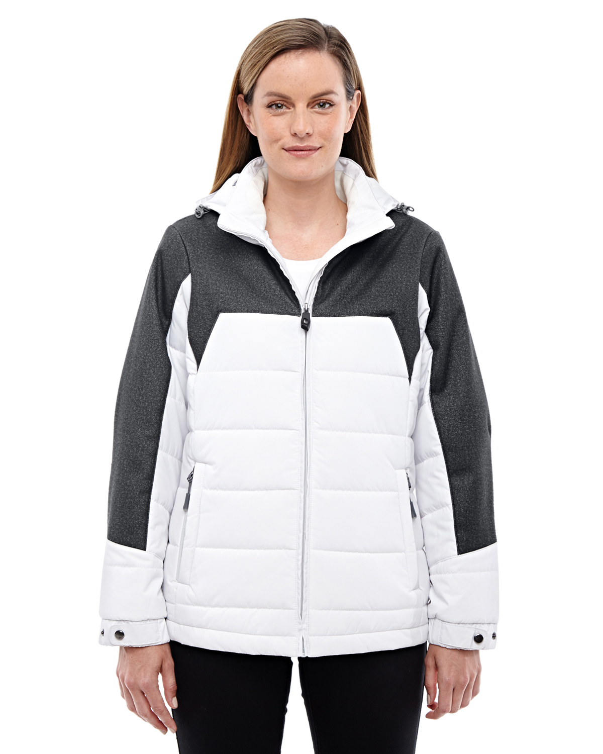 Ash City - North End 78232 - Ladies' Excursion Meridian Insulated Jacket with Melange Print