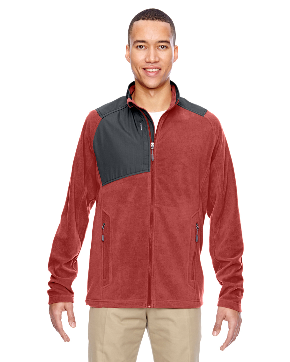 Ash City - North End 88215 - Men's Excursion Trail Fabric-Block Fleece Jacket