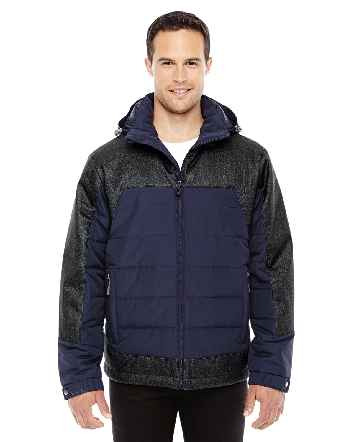 Ash City - North End 88232 - Men's Excursion Meridian Insulated Jacket with Melange Print