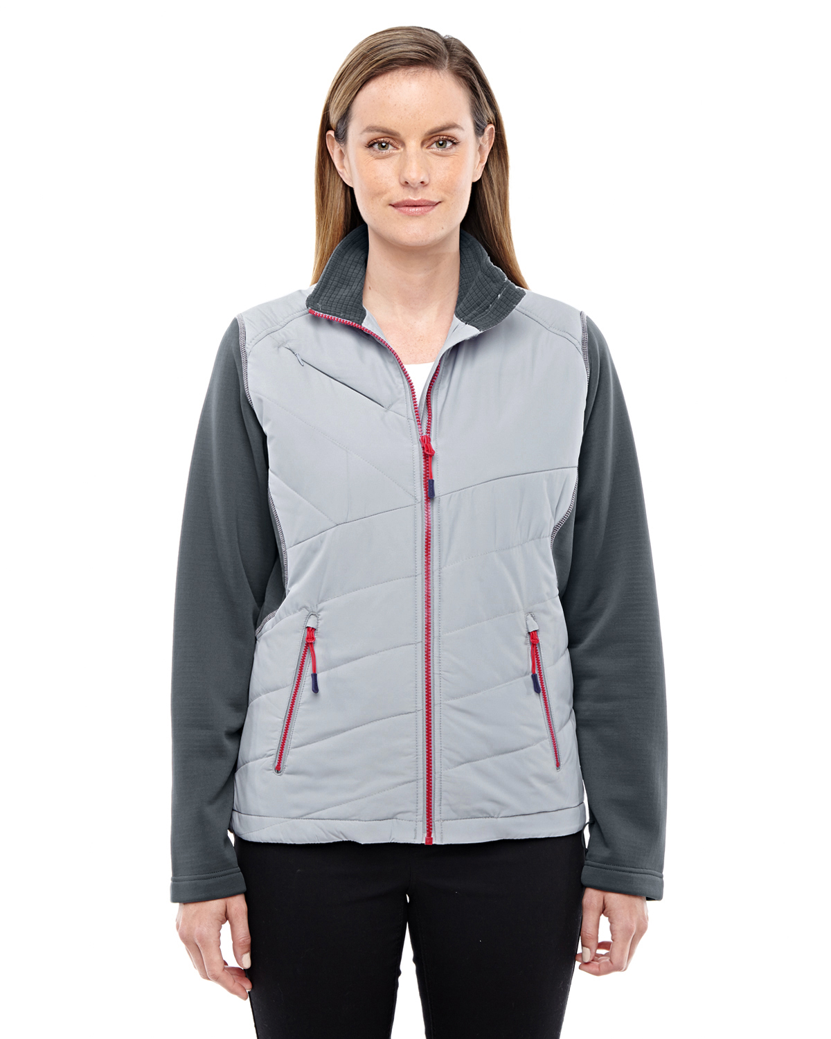 Ash City - North End Sport Red 78809 - Ladies' Quantum Interactive Hybrid Insulated Jacket