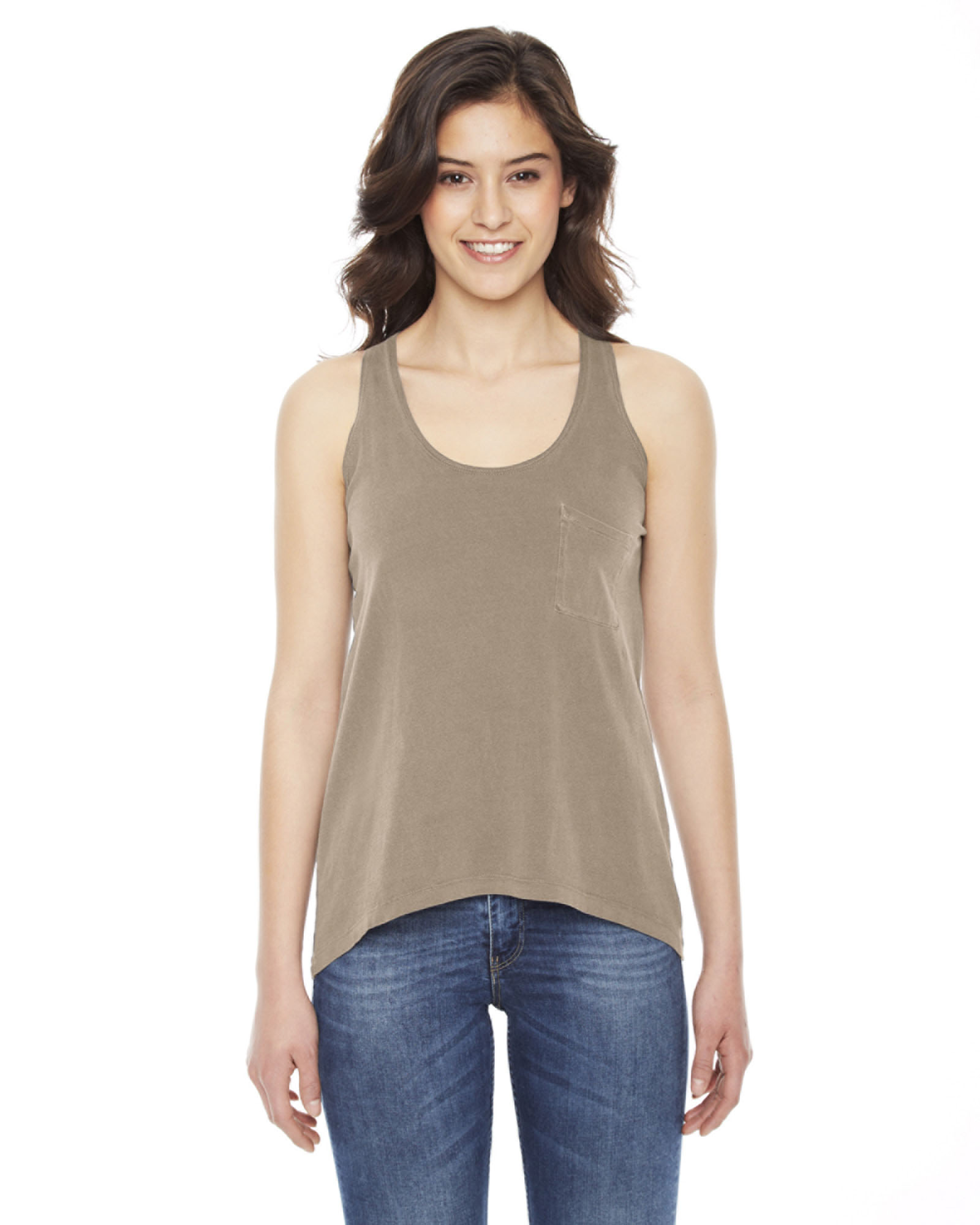 Authentic Pigment AP202W - Ladies' Best Summer Pocket Tank