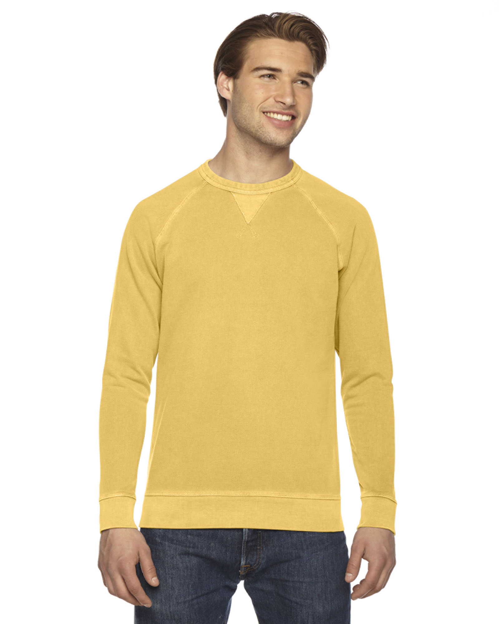 Authentic Pigment AP205 - Men's French Terry Crew