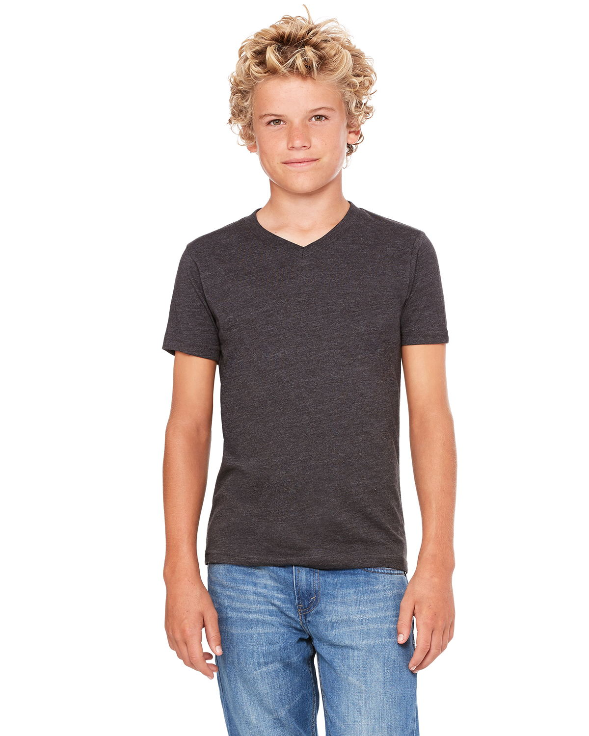 Bella + Canvas 3005Y - Youth V-Neck Jersey Tee