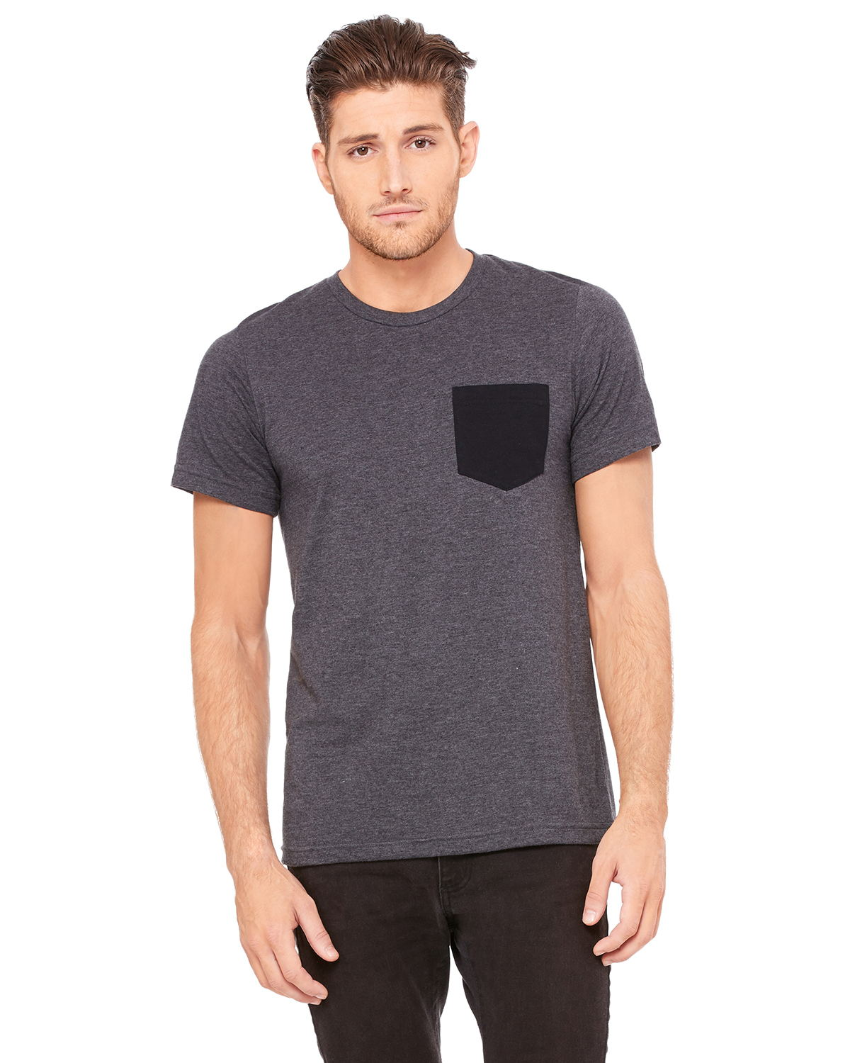 Bella + Canvas 3021 Men's Jersey Short-Sleeve Pocket T-Shirt
