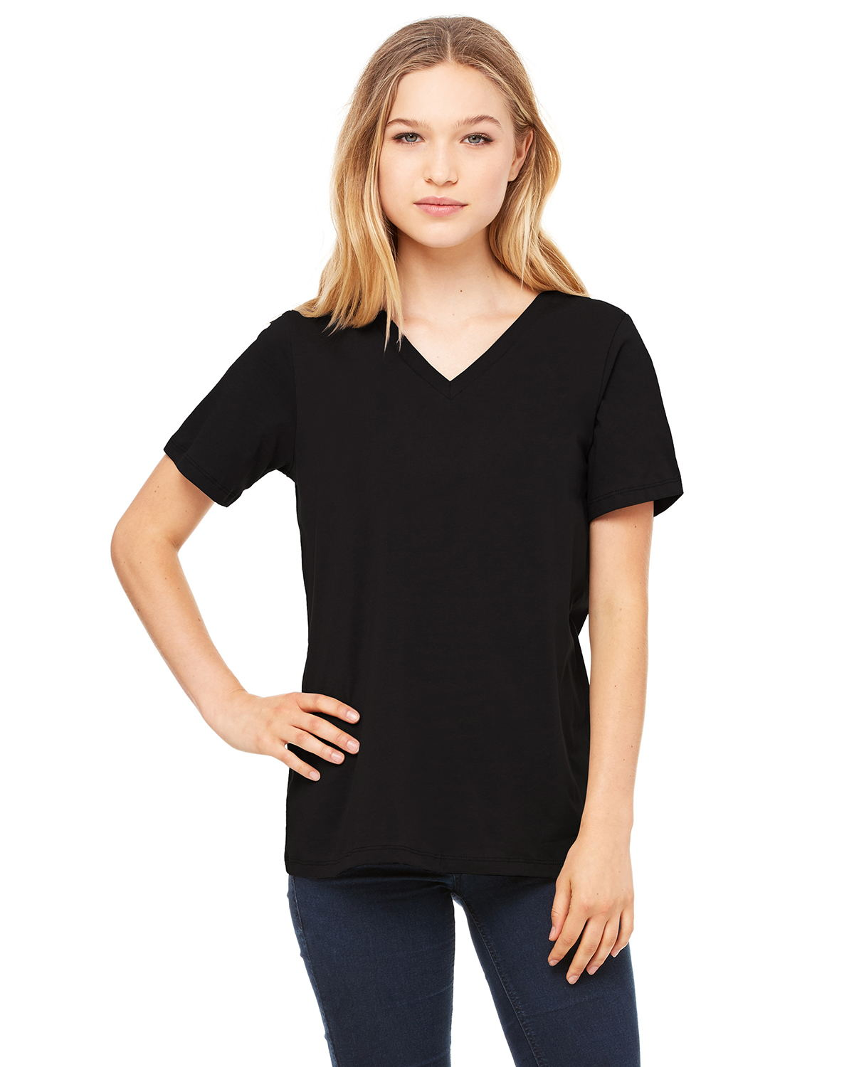 Bella + Canvas 6405 - Women's Relaxed Short Sleeve Jersey V-Neck Tee