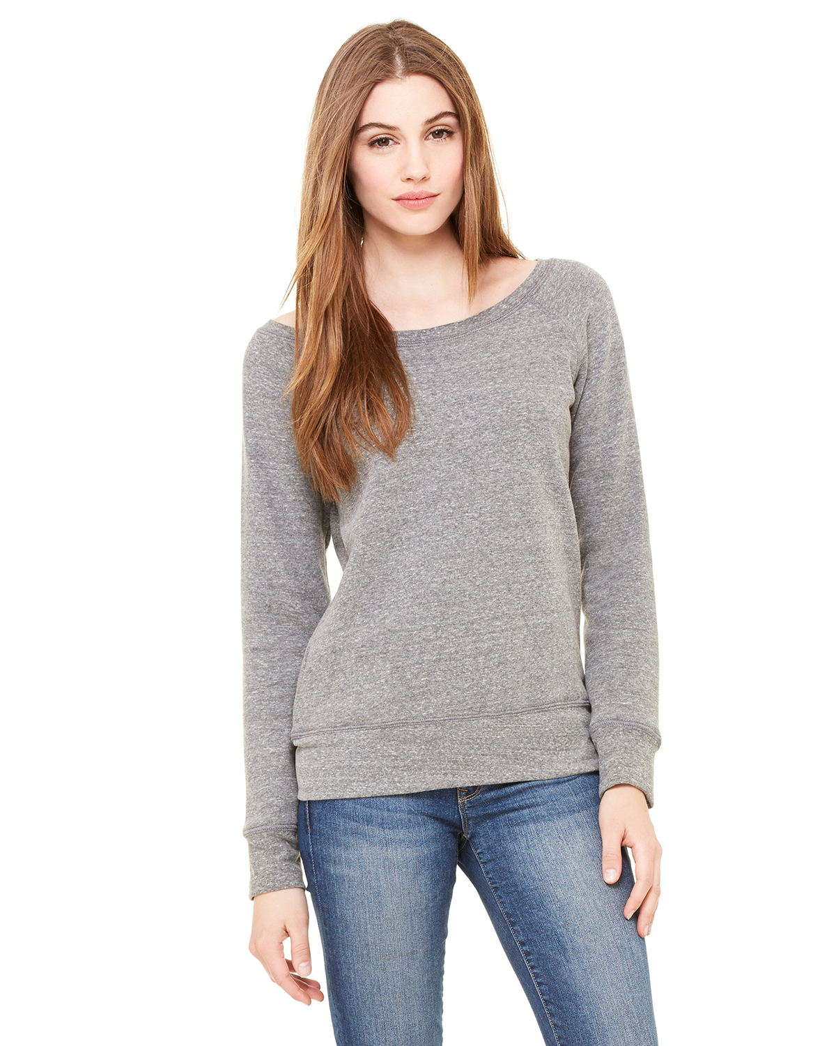 Bella 7501 Ladies 8.2 oz. Triblend Slouchy Wide Neck ...