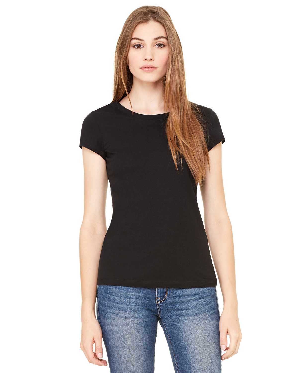 Bella 8701  Women's Sheer Rib Longer Length T-Shirt