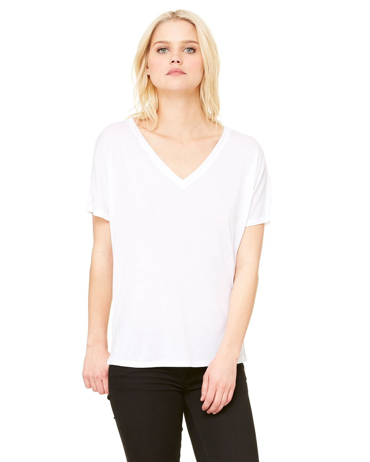 Bella 8815 - Ladies' Flowy Simple V-Neck Tee