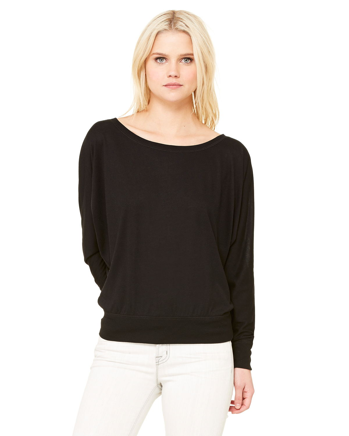 Bella 8850 Ladies 3.7 oz. Flowy Long-Sleeve Off Shoulder T-Shirt