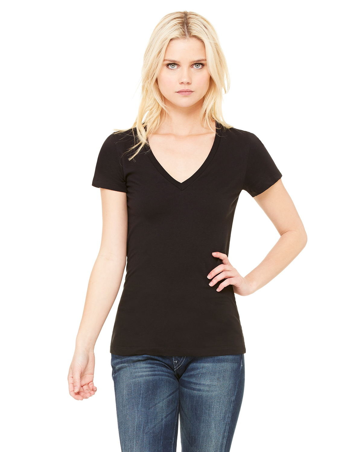 Bella B6035 Ladies 4.2 oz. Jersey Deep V