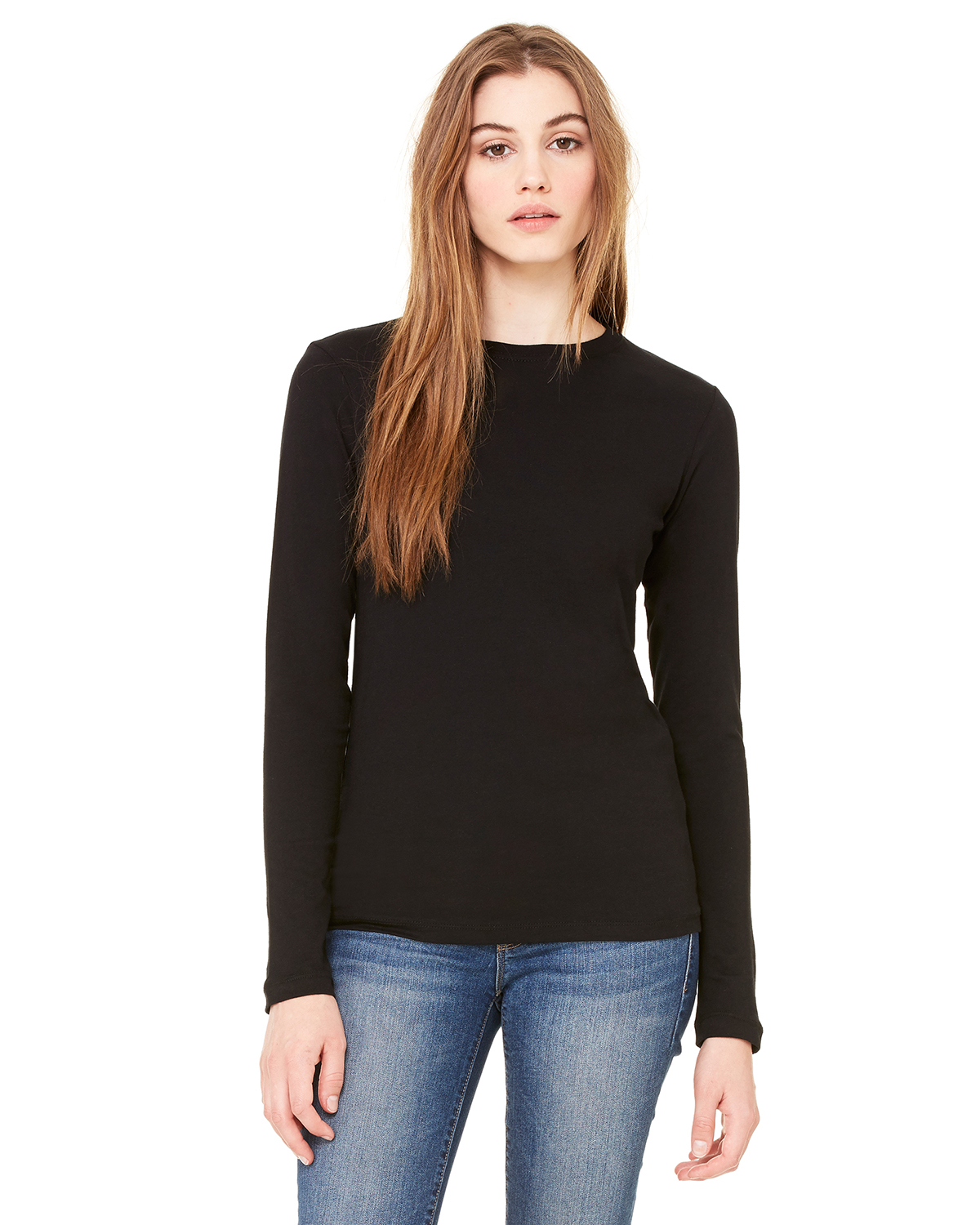 Bella B6500  Women's Long Sleeve Crew-neck Jersey T-Shirt