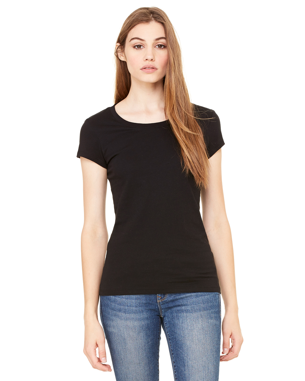 Bella 贝拉 B8101 女士轻薄平纹布加长款T恤