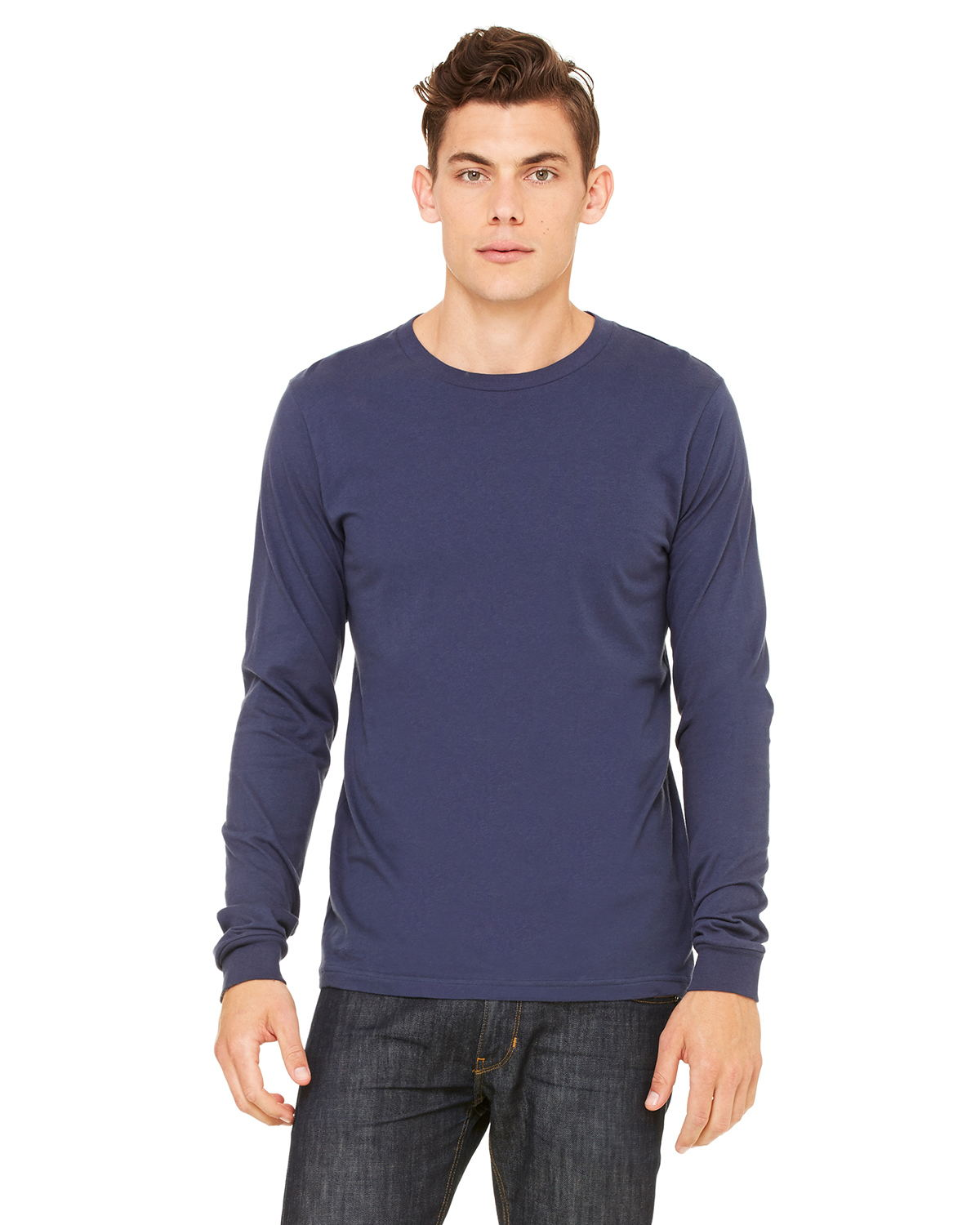 Bella + Canvas - 3501U Men's Made in the USA Jersey Long-Sleeve T-Shirt