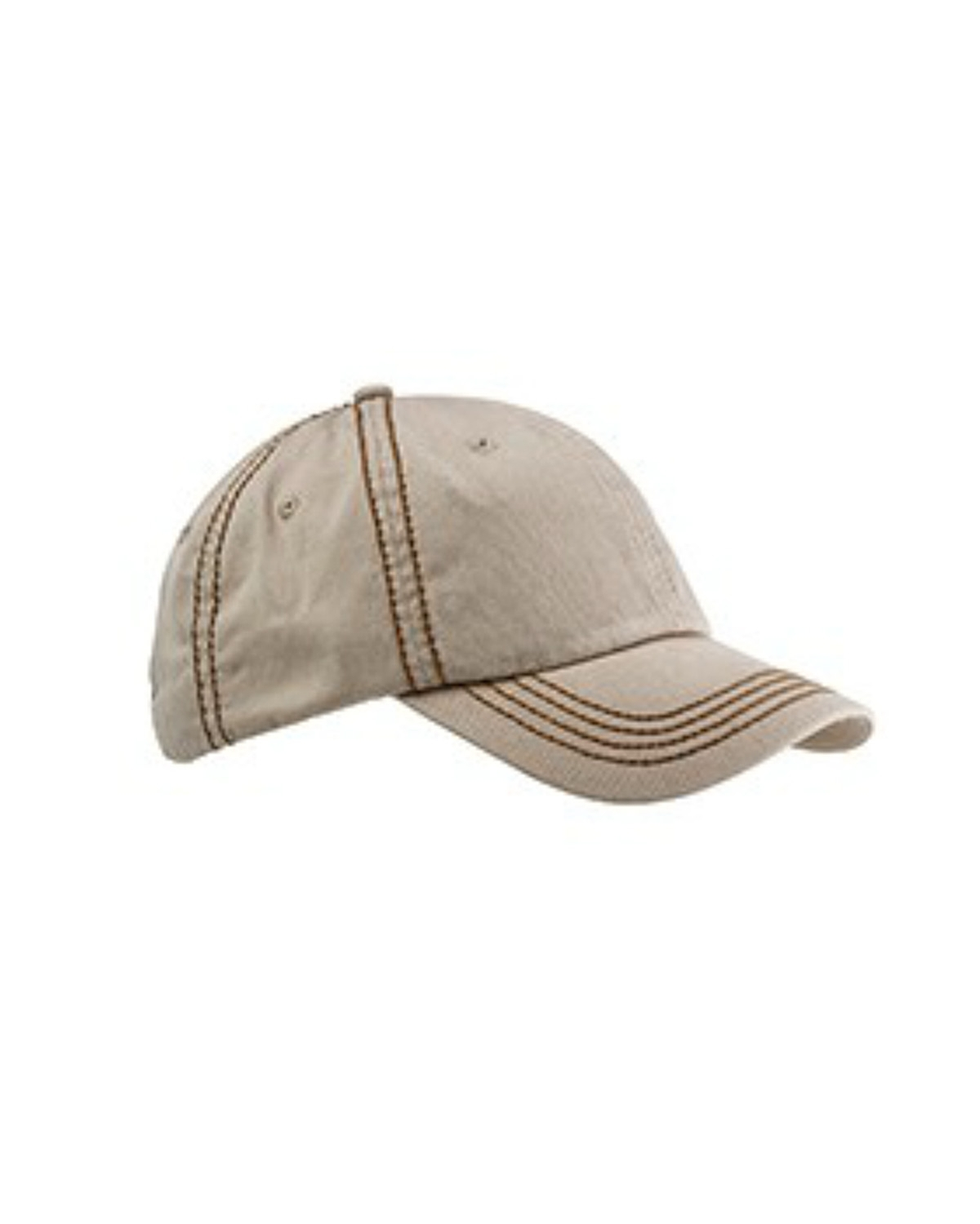 Big Accessories BA509 - Contrast Thick Stitch Unstructured Cap
