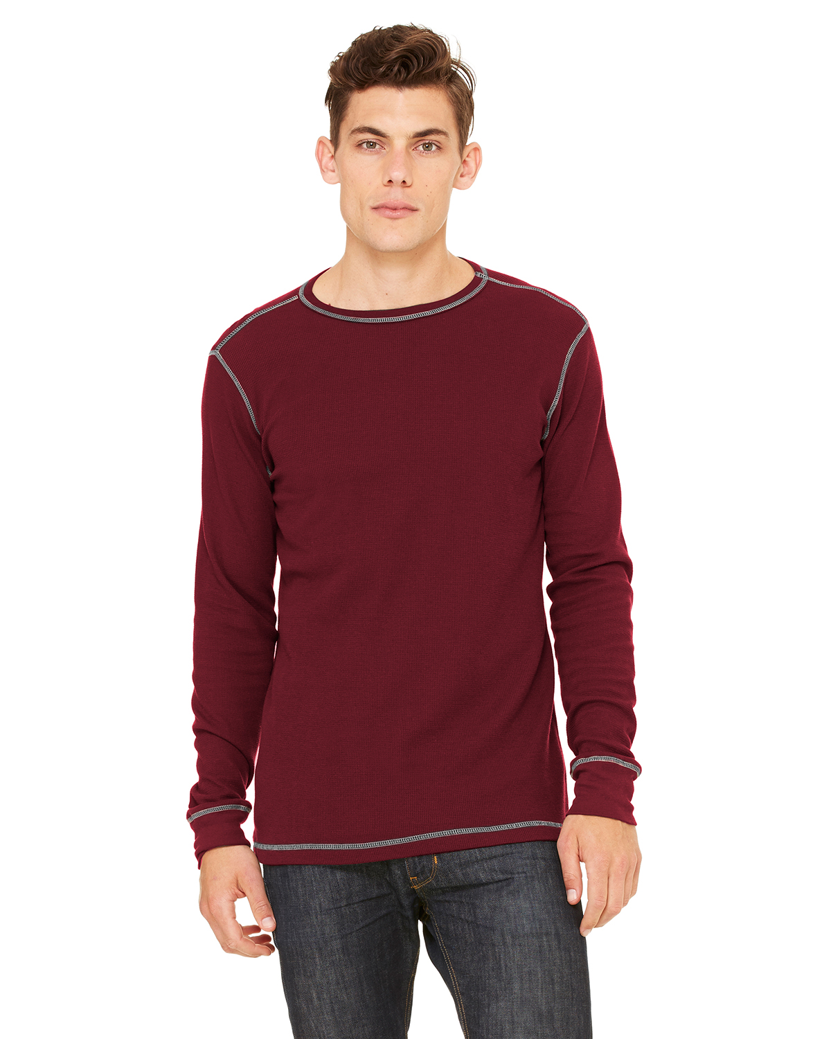 Canvas 3500 Long Sleeve Contrast Stitch Lombard Thermal T-Shirt