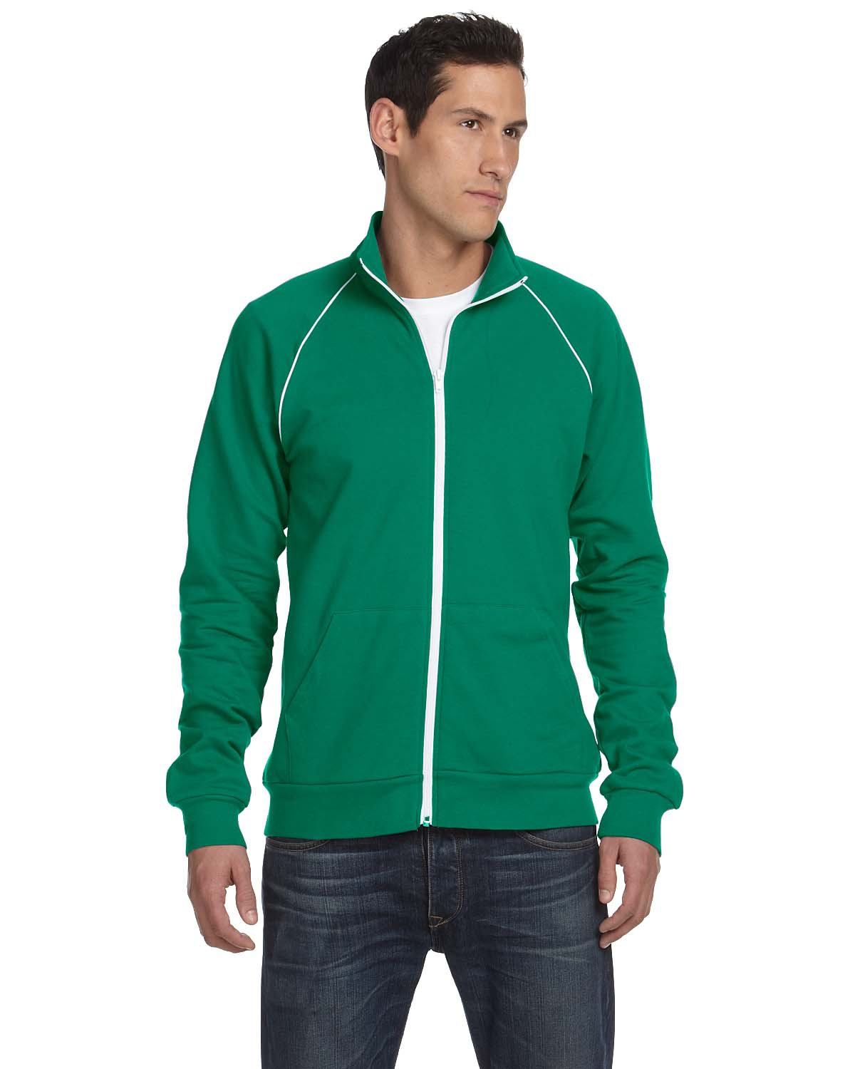 Canvas 3710 La Brea Full-Zip Fleece Cadet Collar Jacket with Piping