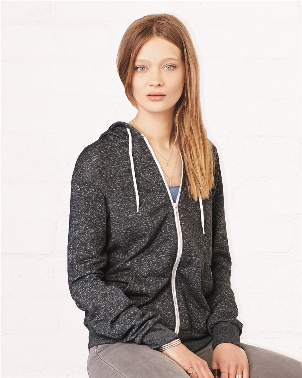 Canvas 3739 - Unisex Poly-Cotton Fleece Full-Zip Hoodie