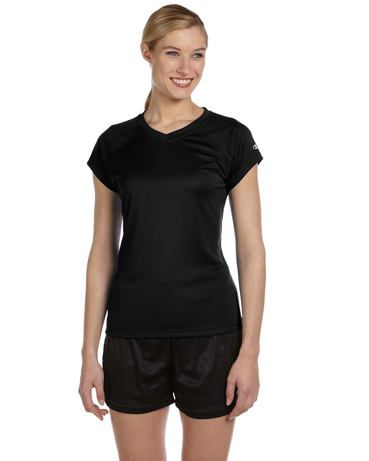 Champion CW23-Women's Double-dry V-neck Performance ...