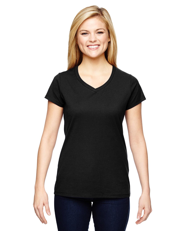 Champion T050 - Vapor Ladies' Cotton Short-Sleeve V-Neck T-Shirt