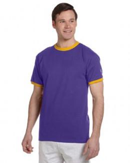 Champion 冠军 T1396 撞色滚边纯色T恤