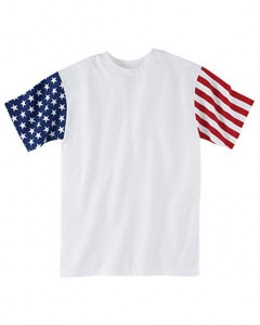 Code V Drop Ship - 3976 Adult Stars & Stripes T-Shirt