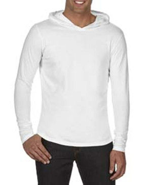 Comfort Colors 4900 - Adult Long Sleeve Hooded Tee Shirt