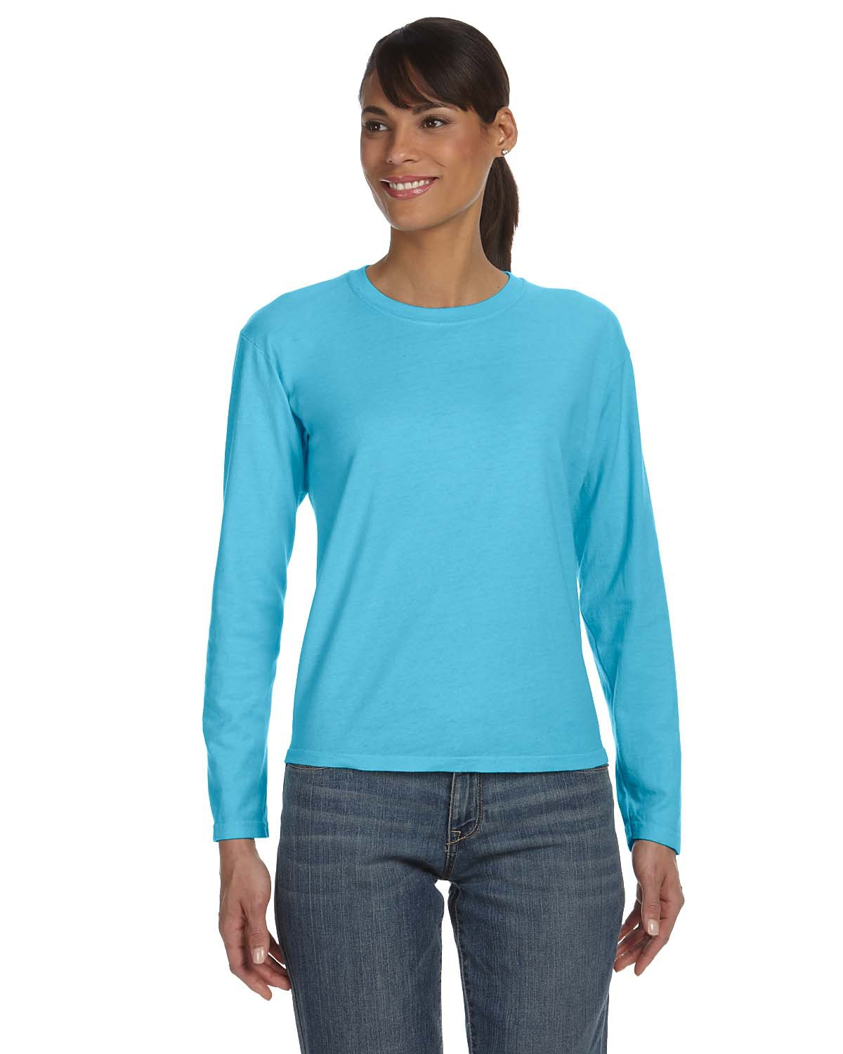 Comfort Colors 3014 - Women's Garment Dyed Ringspun Long Sleeve T-Shirt