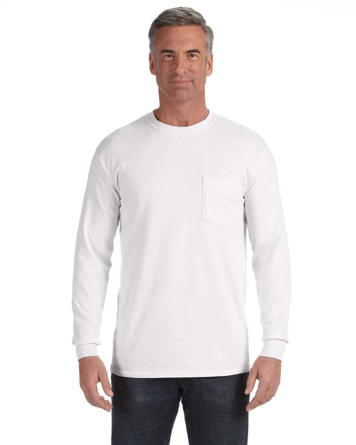 2fd6fb35bc4368 Comfort Colors C4410 - Long-Sleeve Pocket T-Shirt