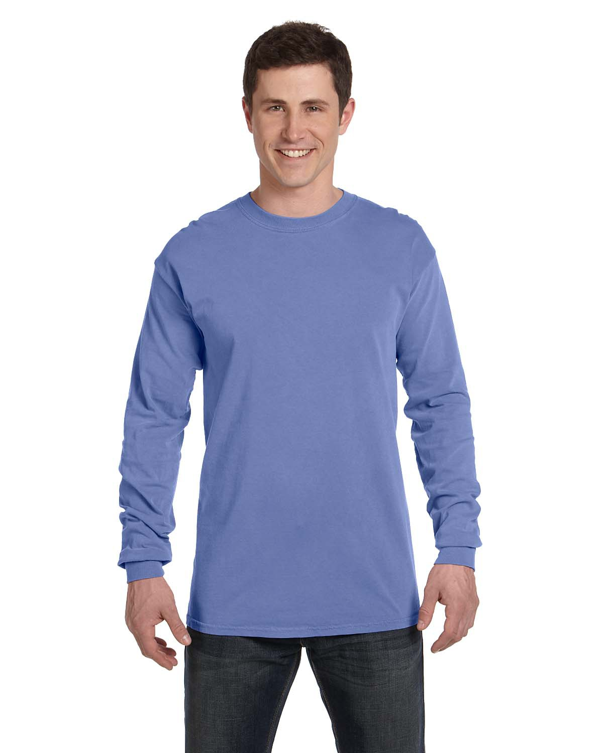 Comfort Colors C6014  6.1 oz. Ringspun Garment-Dyed Long-Sleeve T-Shirt