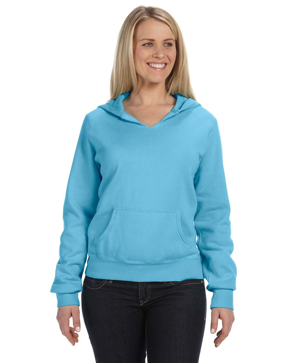 Comfort Colors Women's Garment-Dyed Front-Slit Hooded Fleece C1595