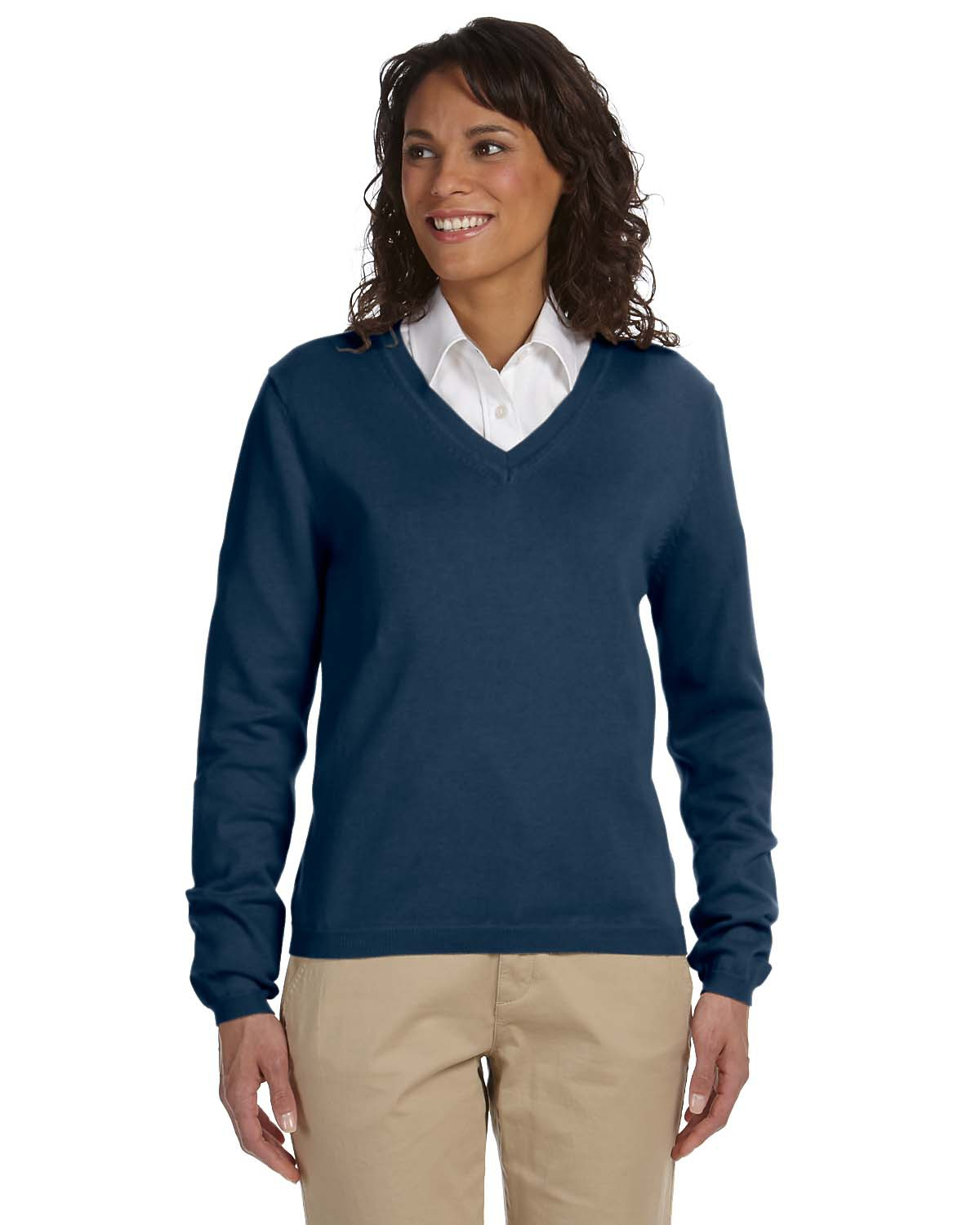 Devon & Jones D475W - Ladies' V Neck Sweater