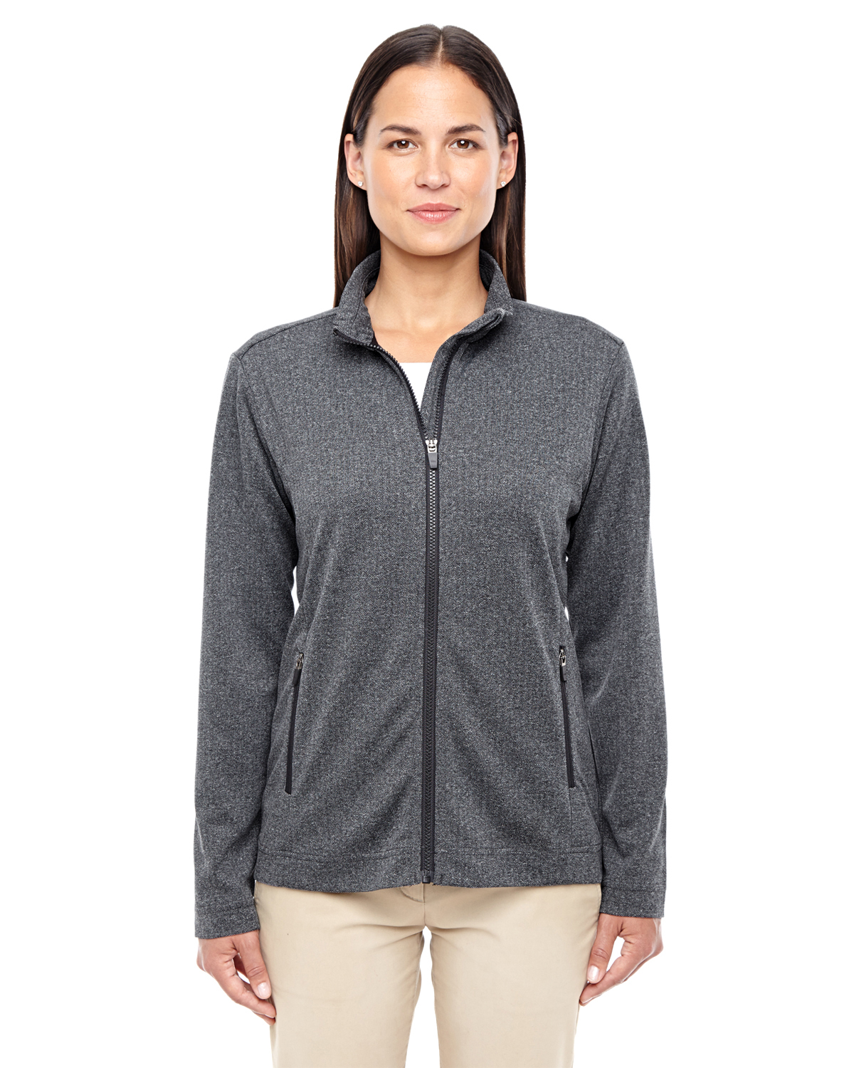 Devon Jones D885W - Ladies Fairfield Herringbone Full Zip Jacket