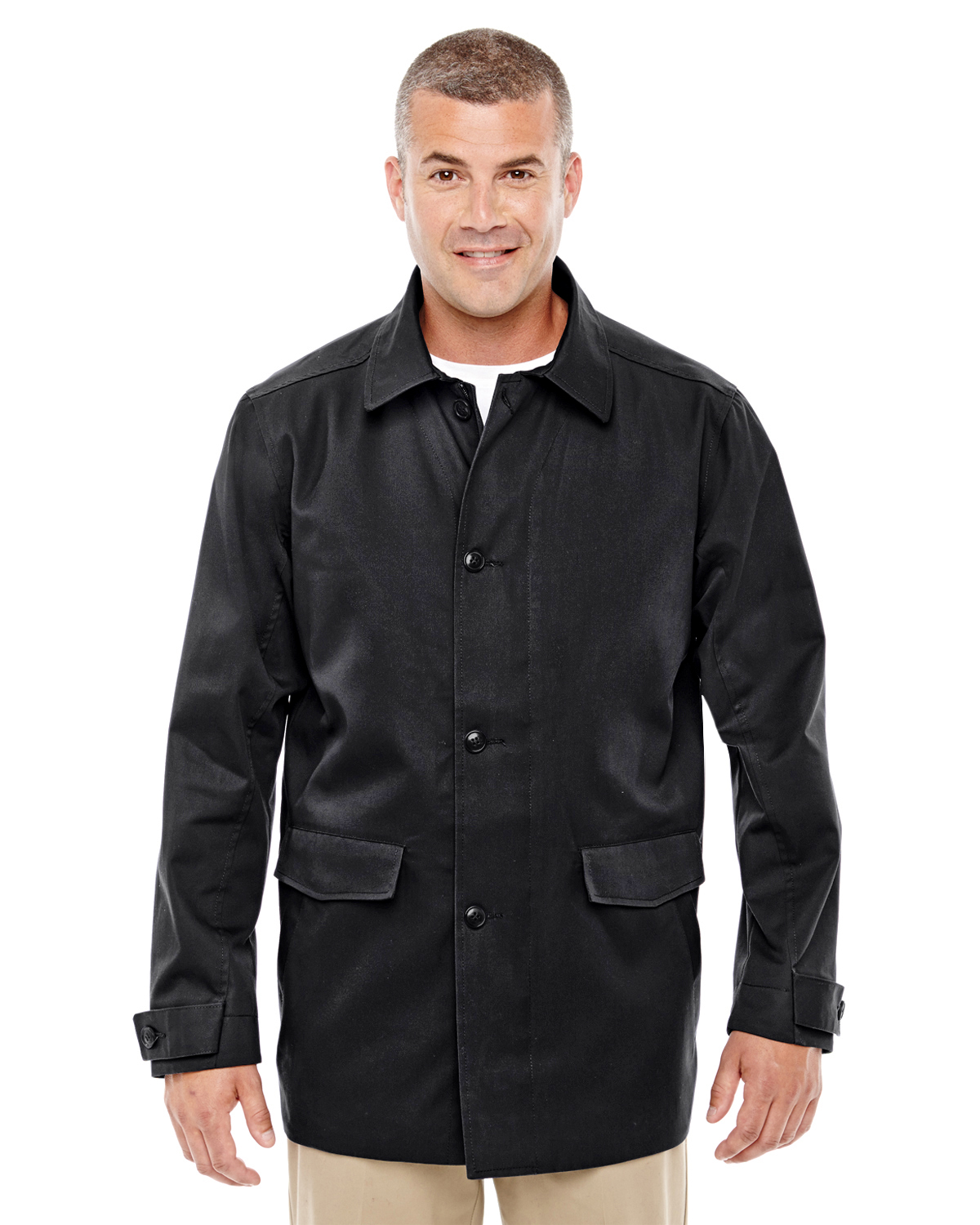 Devon & Jones D982 - Men's Lightweight Basic Trench ...