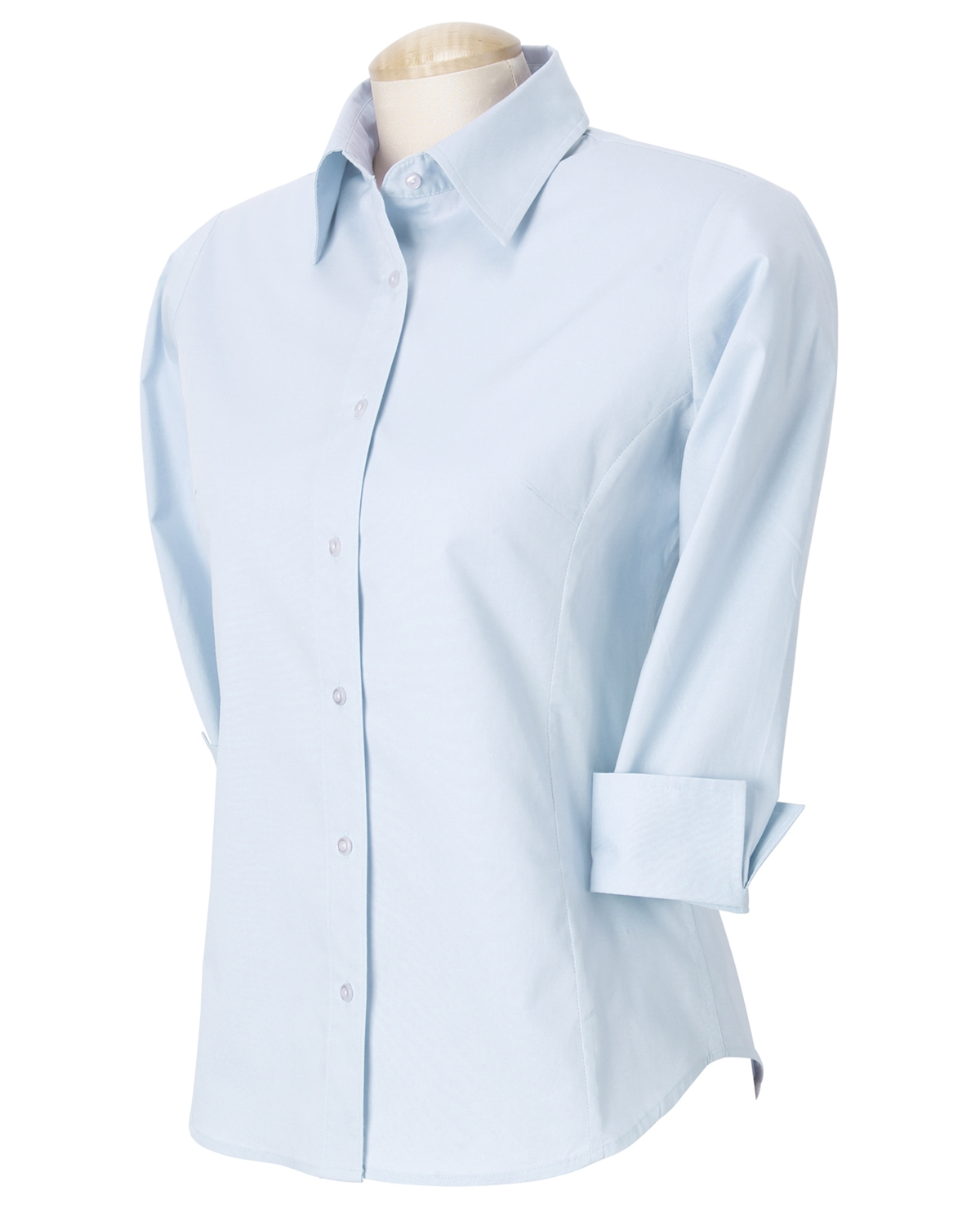 Devon & Jones DP625W Ladies'-Quarter Sleeve Stretch Poplin Blouse