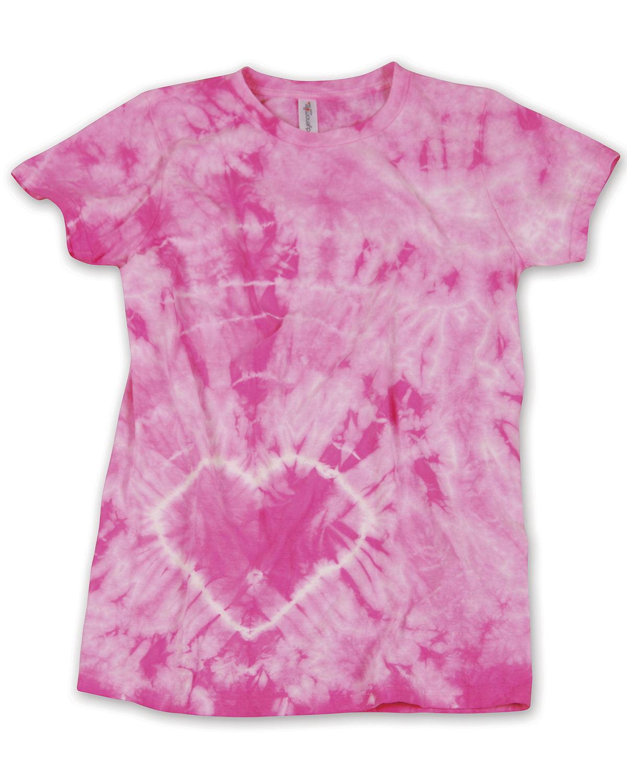 Dyenomite Drop Ship 150HT - Junior Heart Tie-Dye T-Shirt
