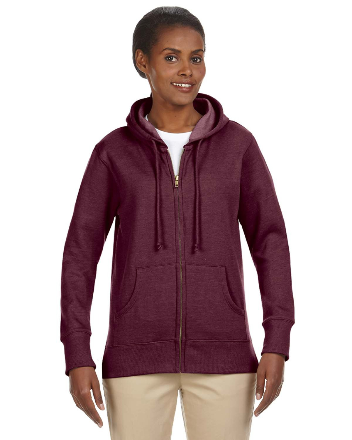 Econscious EC4580 - 7 oz. Organic/Recycled Heathered Fleece Full-Zip Hood