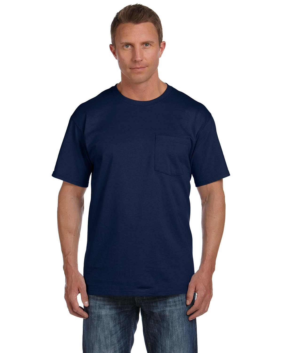 Fruit of the Loom 3931P Adult 5 oz. HD Cotton™ Pocket T-Shirt